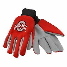 Ohio State Buckeyes Gloves Sports Logo Utility Work Garden NEW Colored Palm
