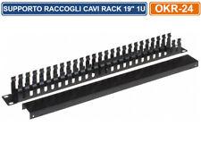 "Supporto raccogli cavi per Armadi Rack 19"" 1u"
