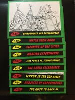 2017 Mars Attacks the Revenge Pencil Green Border 15 Card Lot