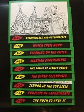 2017 Mars Attacks the Revenge Pencil Green Border 15 Card Lot