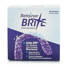 2 Retainer Brite Cleaning Tablets - 36 Count - 72 tablets total