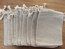 10 LARGE NATURAL BURLAP JUTE GIFT BAGS WEDDING XMAS JEWELRY POUCH SACK 12 x 15CM
