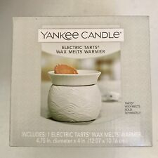 Yankee Candle Home Collection Ivory Pleated Electric Wax Melts Warmer New In Box