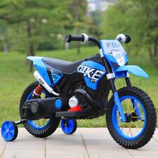 MOTO ELETTRICA PER BAMBINI MOTO CROSS RUOTE GONFIABILI 6V  BLU