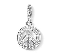 New Genuine Thomas Sabo Sterling Silver CZ Peace Charm 0075 £59.00