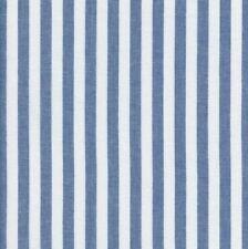 Textiles français Woven Marine Stripe fabric Blue 1cm 100% Cotton per half metre