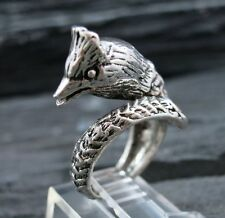 Rare 925 Sterling Silver BIRD Wrap Ring Size 5.25