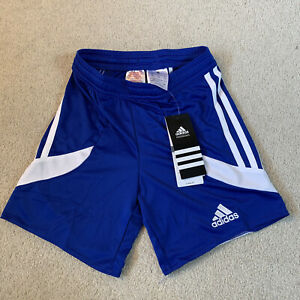 Adidas Nova 14 Climalite junior boy's sports shorts in blue/white - age 4/6 new