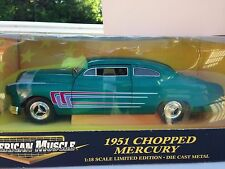 ERTL AMERICAN MUSCLE 1951 CHOPPED MERCURY  1:18 (SCALE)  NEW