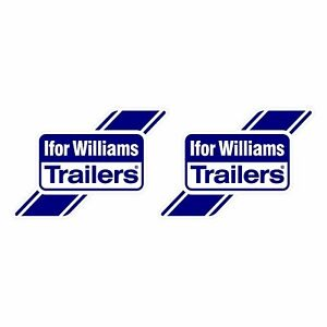 x2 Ifor Williams Trailer Decals Stickers - 210mm x 145mm A5 Approx