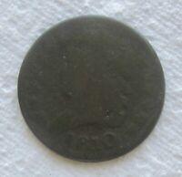 1810 1/2C Classic Head Half Cent Rare Date Light Corrosion