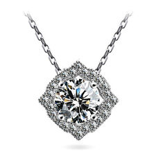 1ct Brilliant Cut Clear Made with Swarovski Crystal Women Bridal Necklace N121