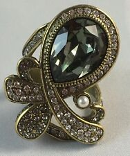 """Heidi Daus """"Speechless"""" Crystal-Accented Knuckle Ring ~ 6"""