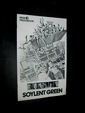 Original 1973 SOYLENT GREEN Charlton Heston EDWARD G ROBINSON Pressbook 24 pages