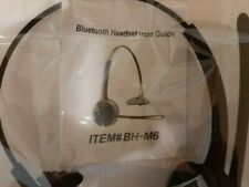 BLUETOOTH HEADSET WITH MIC NEW ITEM# BH M6