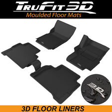 Trufit Floor Liners for VW Amarok Dual Cab 2010 - 2020 3D Rubber Floor Mats