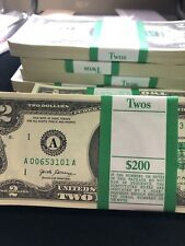 Rare NEW 2017-A Two Dollar $2 Bill Pack of 100 notes BOSTON Series WOW !! 2017 A