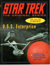 Star Trek Classic Make Your Own Starship Enterprise Book paper model kit Vintage