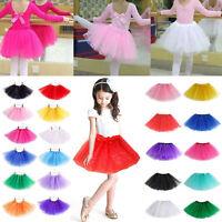 Kids Girls Tulle Tutu Ballet Dancing Skirt Fairy/Princess Dress Up Party Costume
