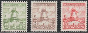 Denmak 1937 SC# B6 - B8 - Dybbol Mill - Three stamps - M-H Lot # 040