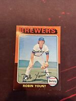 1975 Topps Mini ROBIN YOUNT BREWERS #223 ROOKIE