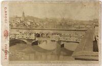 Firenze Ponte Vecchio Italia Foto PL17c2n48 Cartolina Armadio Vintage Albumina