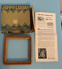 """New ListingJiffy-Loom for Hand Weaving Original Box 4.5"""" x 4.5"""" Vintage"""
