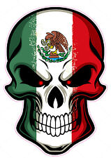 "Mexican Skull Large Truck Back Window Decal is 18"" x 13"" in size"