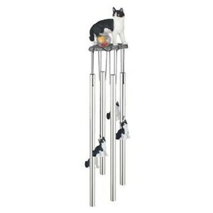 Cat Round Top Wind Chime 23 Inch Windchime New