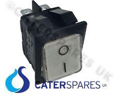 Interruptor Transparente 16A Blanco Encendido Apagado Doble Polo 4 Pin 22X31MM 230V Cuadrado