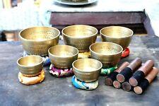 Hand Beaten singing bowl set-set of 7 Chakra Healing singing bowl-yoga bowl