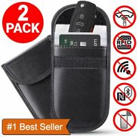 2 * Car Key Signal Blocker Case Faraday Cage Fob Pouch Keyless RFID Blocking Bag