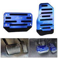 Universal Blue Non-Slip Automatic Gas Brake Foot Pedal Pad Cover Car Accessory