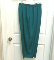 Maggie Sweet Pants Petite 2X Turquoise Stretch Waist Peachskin