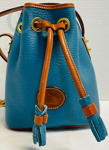 Vintage Dooney Bourke*R134*Mini Drawstring*Mediterranean Blue*21005L S186