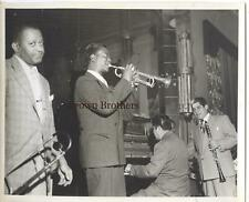 Vintage 1940s Frankie Newton Jazz Trumpeter Photo - Brown Bros