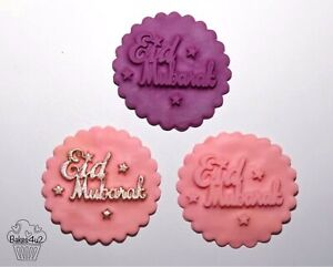 Eid Mubarak Embosser/eid Mubarak Silicone Mould/eid Mubarak Cupcake Embosser Mat