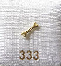 Singleohrstecker Ohrstecker Schraubenschlüssel 333 Gold einzeln Herrenschmuck