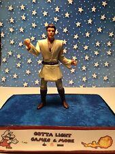 "1998 Hasbro Star Wars The Phantom Menace  4"" OBI-WAN KENOBI JEDI DUEL,CLEAN"