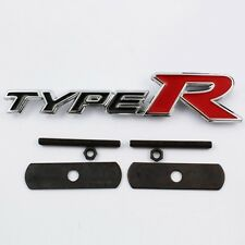 Type R Chrome Metal Front Grill Badge Emblem Civic Integra Accord Prelude TypeR