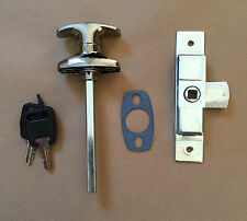 Chrome T Handle 38mm & Budget Lock / Latch for Catering Trailers Horsebox Coach