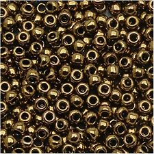 6/0 Antique Bronze TOHO Round Glass Seed Beads 10 Grams #223
