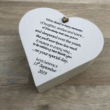 Shabby Personalised Chic BRIDE Gift From Bridesmaid ANY NAME Heart Box Wedding