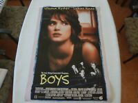 BOYS MOVIE POSTER WINONA RYDER Original DS 27x40 double sided rolled