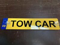 Tow car sign for towing A frame behind motorhome