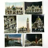 Venezia RPPC Lot of 7 Colorized Postcards Miscellaneous Scenes 6 x 4 Unposted