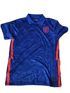 MENS ENGLAND EURO 2020 AWAY BLUE FOOTBALL SHIRT 2021 Size XL