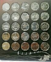 2013/2014 Sri Lanka 25 Coin Set 10 Rupees District Series Uncirculate UNC SCARCE