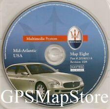 2004-2010 Maserati Quattroporte Navigation CD #8 Cover DE VA Partial MD PA NJ NC