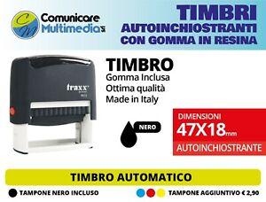 TIMBRO AUTOINCHIOSTRANTE PERSONALIZZATO - TIMBRO AUTOMATICO 47X18 mm -